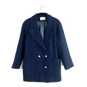 JH COLLECTIBLES Navy Wool Coat